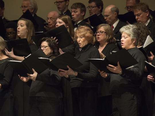 The FHU Lectureship Chorus perform Thursday night at the Freed-Hardeman University Bible Lectureship.