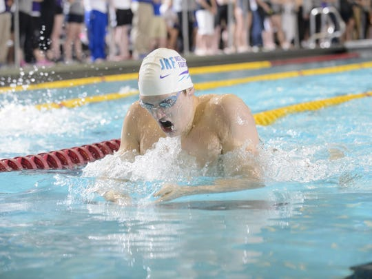 Conner McHugh competes in the 2014 Jean Freeman Invite for the Univeristy of Minnesota. The Door County native is competing with his younger brother, Max, in the U.S. Olympic Swimming Trials next week.