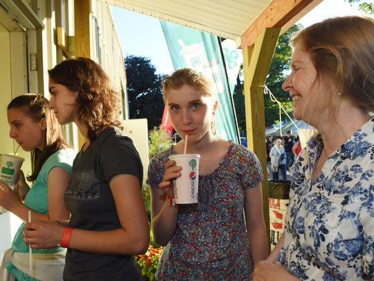 From left, Mary, Christine, Rita and Margaret Ruggerone of Clinton Corners at the 4 H milkshake stand at the Ulster County Fair during Tuesday's opening day.