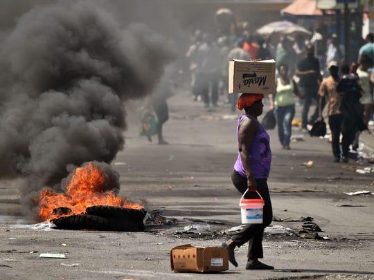 TOPSHOT-HAITI-POLITICS-PROTEST