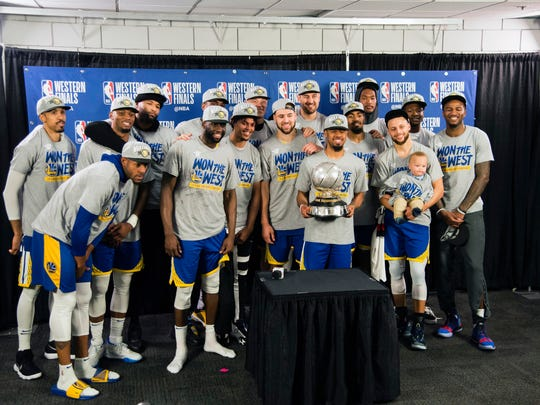 The Golden State Warriors swept their Western Conference series and now wait to learn whether they'll play the Bucks or Raptors.