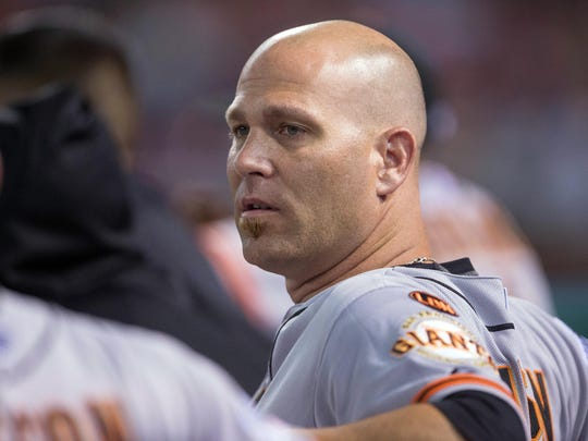 Program legend and longtime MLB pro Tim Hudson, pictured with the San Francisco Giants in 2015, has been named the pitching coach at Auburn.