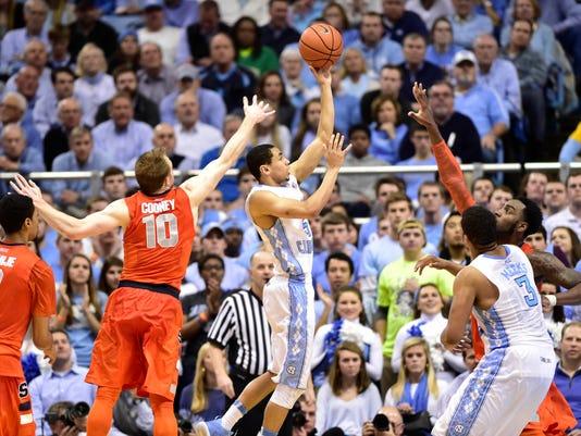 NCAA Basketball: Syracuse at North Carolina