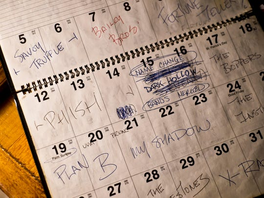 A Nectar's booking calendar shows the last time Phish player on their home stage.