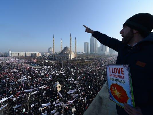 APTOPIX Russia Prophet Protest