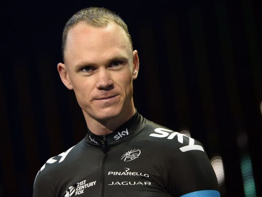Froome cycling
