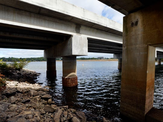 The bridge where Tucker Hipps fell to his death in Clemson, South Carolina, is shown on Sept. 25. The son of U.S. Rep. John Carney, D-Delaware, is named in two lawsuits in the incident.