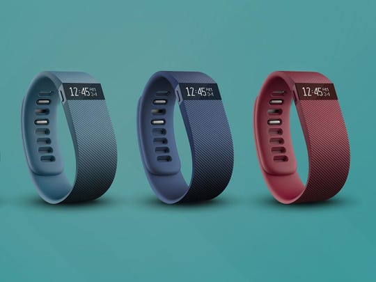 The Fitbit Charge retails for $130 and tracks calories burned, distance traveled, steps made and floors climbed.