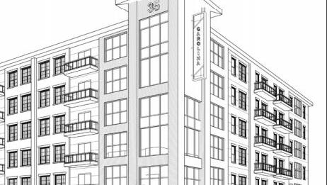 Proposed 27 W. Carolina apartments, commercial