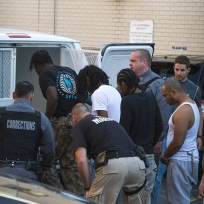 Accused members of the Eddie Block gang are sent to