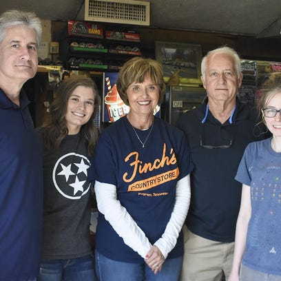 Finch's Country Store is located on Highway 70 in Pegram. Among those who work at the store include, from left, Joe Freeman, Rae Freeman, Pam Freeman, Wally Freeman and Laiken Wiley.