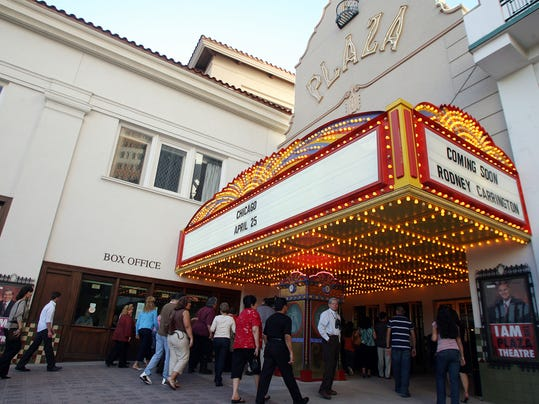 Fans made their way inside the Plaza theatre to see the band Chicago in concert Wednesday evening.