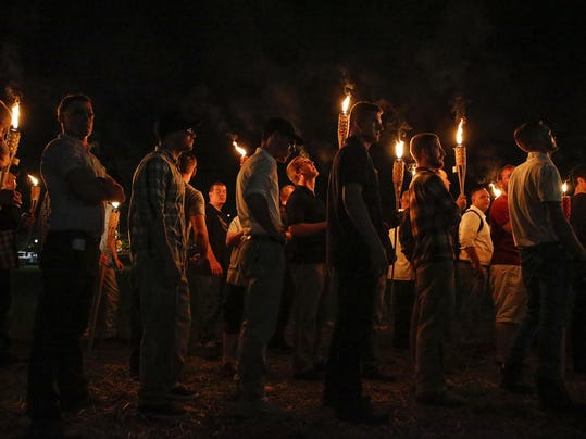 Confederate Monument Protest Tiki Torches
