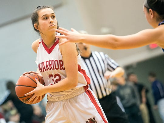 Susquehannock's Kelsey Gemmill looks for a pass, Saturday,
