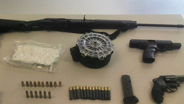 Methamphetamine, firearms and other items were seized by Chihuahua state investigators in Juárez.