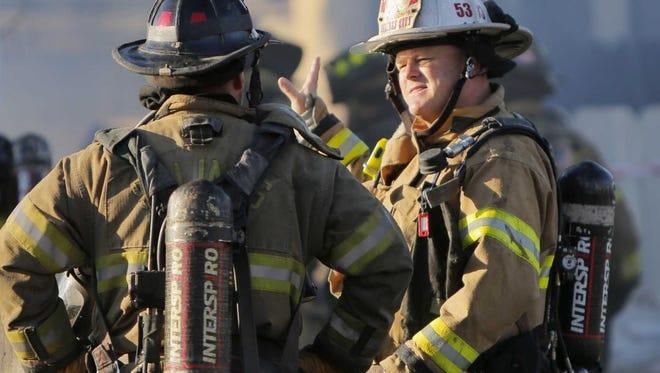 Salinas Fire Deputy Chief Brett Loomis responds to a fire scene.