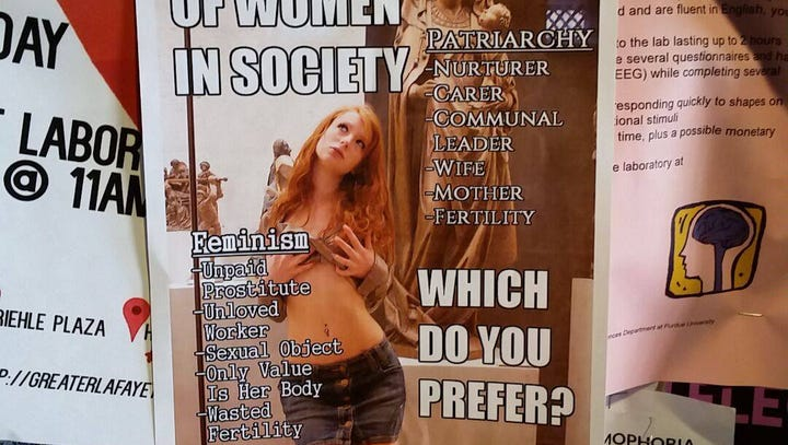 Misogynistic fliers posted at Purdue