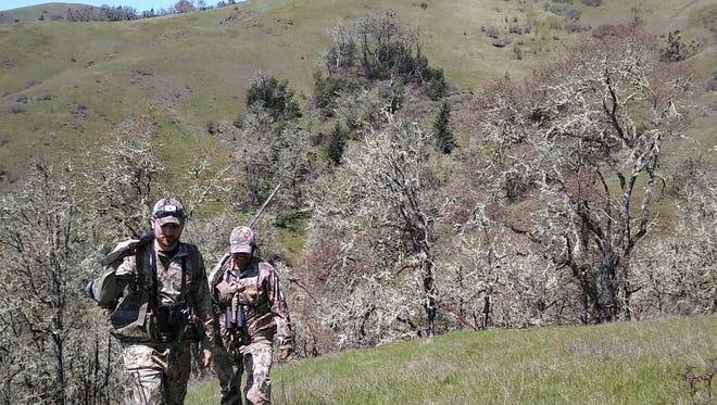 Dominic and Asha Aiello go hunting in Oregon.