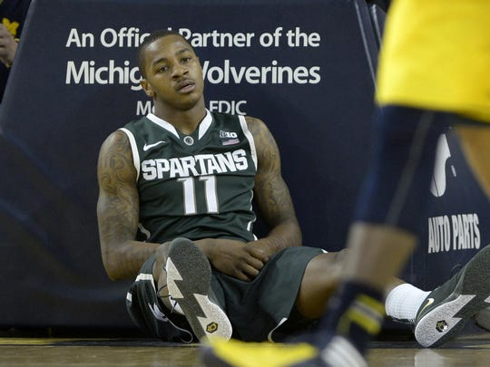 Keith Appling, who was named Mr. Basketball in 2010 as the state's top high school player, played for Michigan State from 2010-2014.