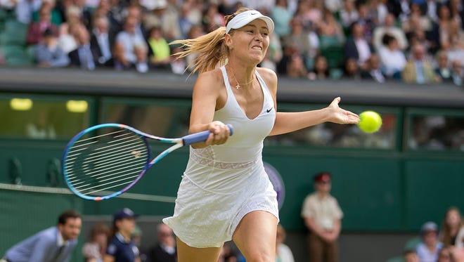 Maria Sharapova during her win against Coco Vandeweghe on Tuesday.