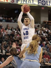 Sydney Moss of Thomas More hits the jumper just outside