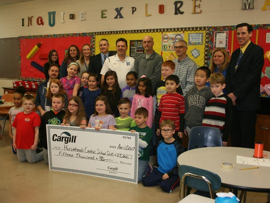 The Horseheads Central School District accepted a $15,000