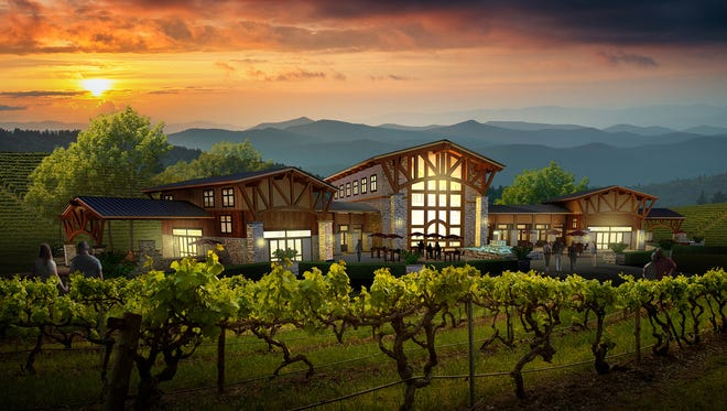An artist's rendering of the proposed Equus Club at Lake Keowee clubhouse.
