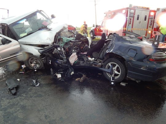 Maria Droesch's car was crushed and contorted during