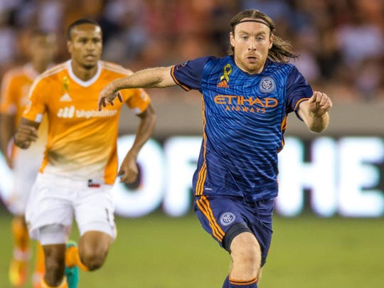 NYCFC's Thomas McNamara, right, transferred to Clemson from Brown in 2013 and made a lasting impact.