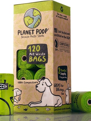 Biodegradable poop bags are a good option.