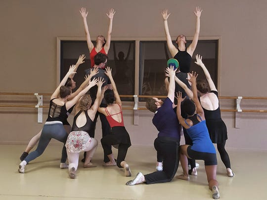 Cast members rehearse for the upcoming Montgomery Ballet