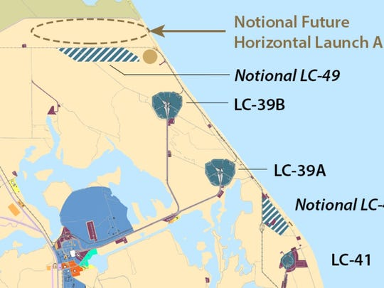 Kennedy Space Center's master plan shows the proposed