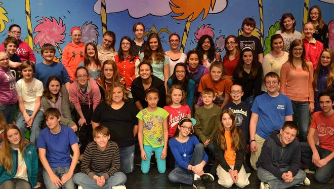 The cast of Seussical Jr. photo provided by BCSD