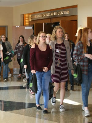 More than 100 area high school junior and senior girls attended Thursday's 2018 Teen Girls Go to College event at Arkansas State University-Mountain Home. The annual event, sponsored by in part by the Schliemann Center for Women's Health Education, awards more than $10,000 in scholarships to young women who may not have considered pursuing a degree after graduating high school.