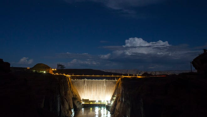 Glen Canyon Dam on Aug. 20, 2013.