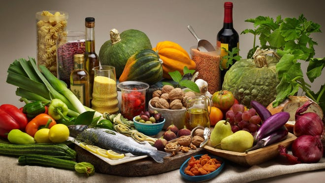Studies find big health benefits to a Mediterranean diet, which contains lots of fruit, vegetables, fish and olive oil, but not a lot of red meat, dairy or sweets.