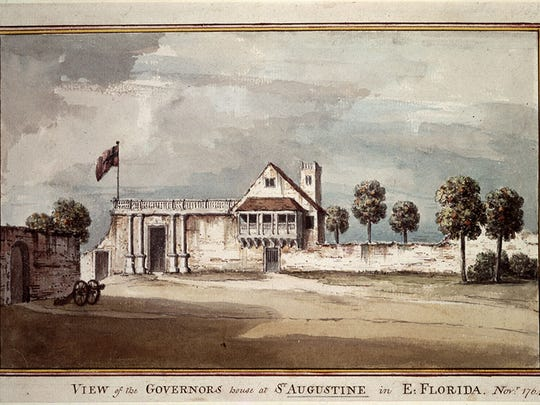 A view of the Governor's house at St. Augustine in East Florida, 1764,