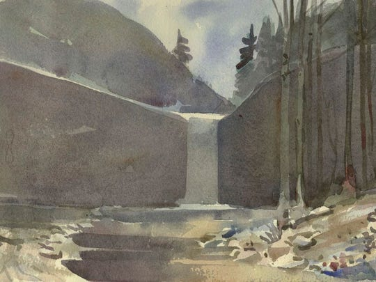 Watercolorist Staats Fasoldt's Awosting Falls is included