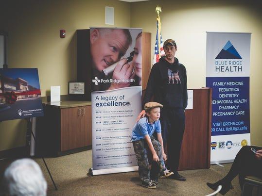 Zachary McMakin & son, Sawyer - Shriners patient