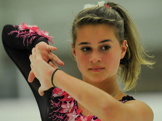 Mia Roberts, now 12, has been figure skating since she was 6-years-old.