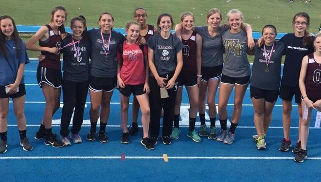 The Owen Middle School girls track team.