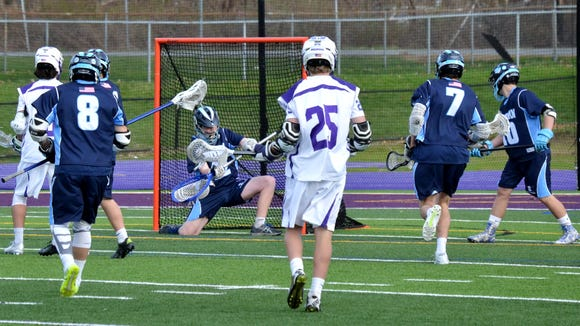 Suffern goalie Dan Sharp and the Mounties defense may have to carry the team until the offense gets up to speed.