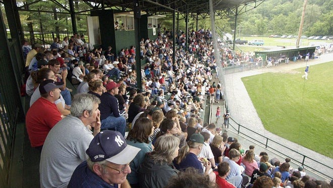 In this 2003 file photo, fans sit shoulder to shoulder as they watch the Vermont Mountaineers play at the Montpelier Rec Field.