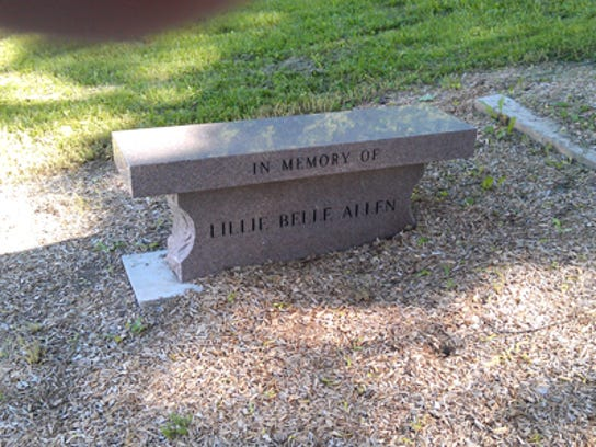 Memory stone for Lillie Belle Allen (Jim McClure's blog)submitted