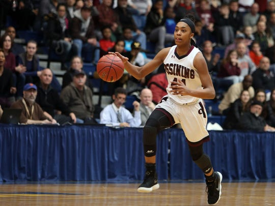 Ossining defeated Lourdes 75-63 in the girls Section 1 championship game at Pace University in Pleasantville March 3, 2018.