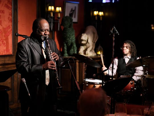 Wendell Harrison, left, still maintains an active performance