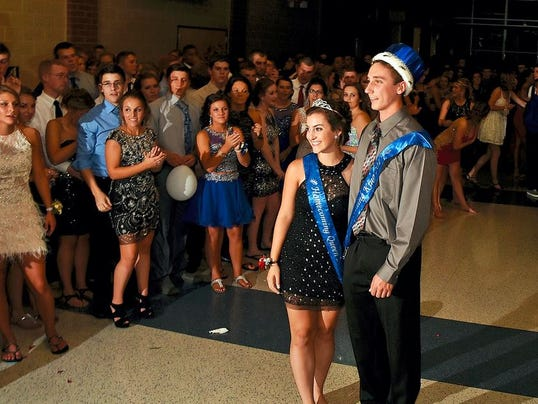 Students attend the Spring Grove Area High School homecoming dance.