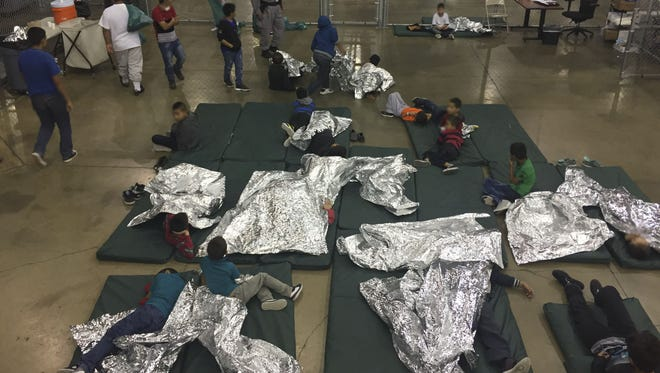 This U.S. Customs and Border Protection photo dated June 17, 2018, obtained June 18, 2018, shows intake of illegal border crossers by U.S. Border Patrol agents at the Central Processing Center in McAllen, Texas. Children have been taken away from their mothers and fathers in the Border Patrols South Texas Rio Grande Valley sector, with many brought to the Central Processing Station in McAllen, Texas, since the policy was announced on May 7, according to Manuel Padilla, the Border Patrol sector chief.