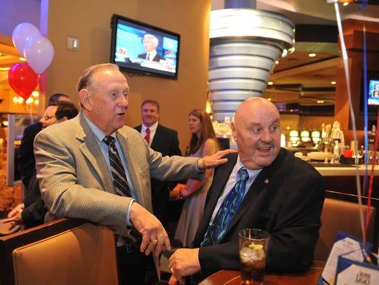 Reno Mayor Bob Cashell and Sparks Mayor Geno Martini