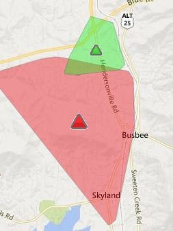 About 3,000 Duke Energy customers are without power Wednesday afternoon.